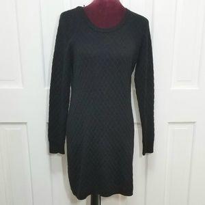 PINK ROSE Black Sweater Dress